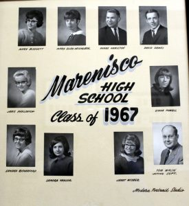 Marenisco Graduating Class of 1967