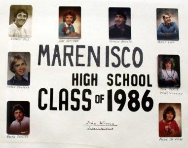 Marenisco Graduating Class of 1986