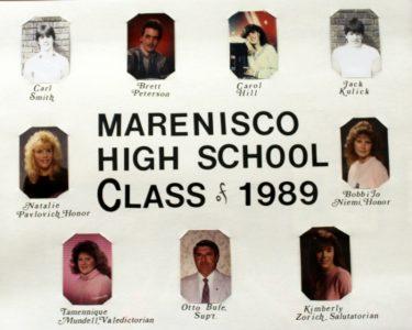 Marenisco Graduating Class of 1989