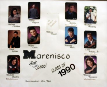 Marenisco Graduating Class of 1990