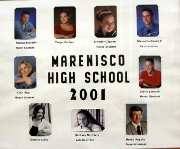 Marenisco Graduating Class of 2001