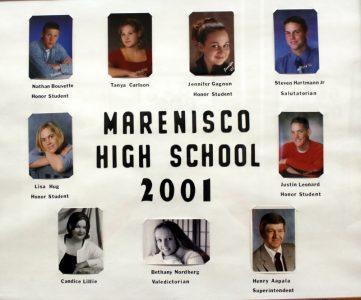 Marenisco Graduating Class of 2001